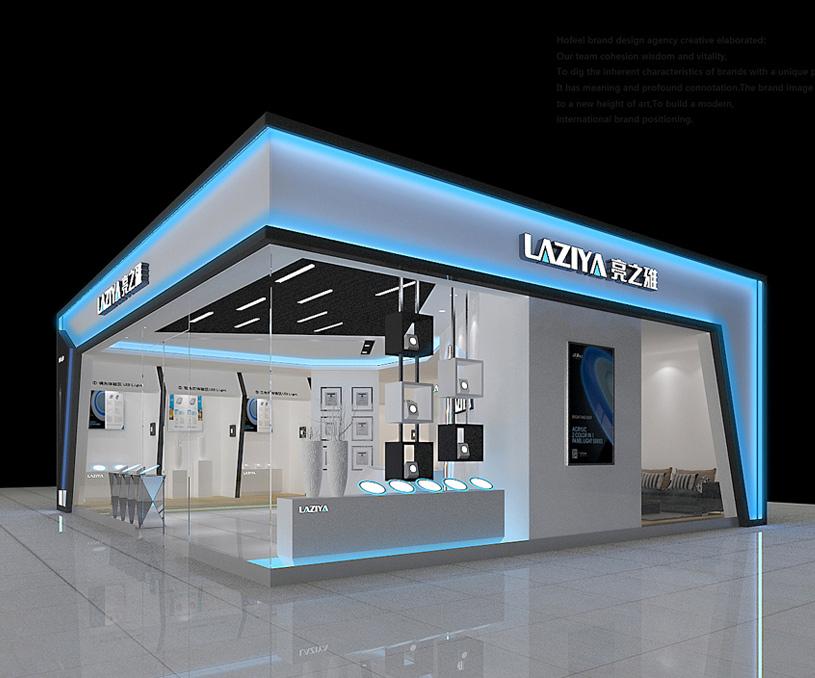 亮之雅灯饰商业空间设计/展厅设计案例