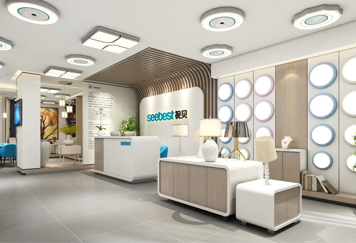 视贝照明品牌设计/展厅设计/包装设计效果图1