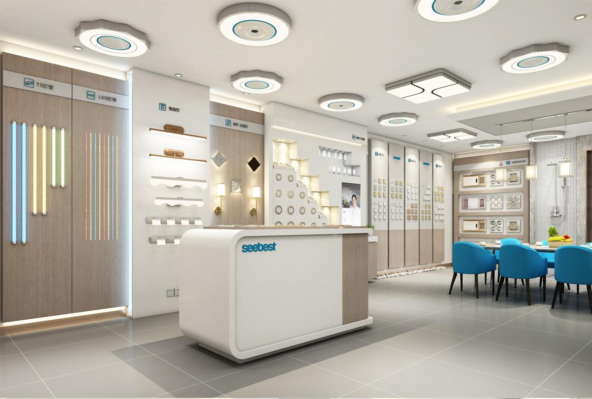视贝照明品牌设计/展厅设计/包装设计效果图2