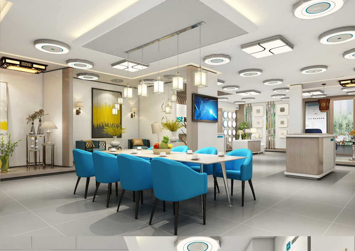 视贝照明品牌设计/展厅设计/包装设计效果图3