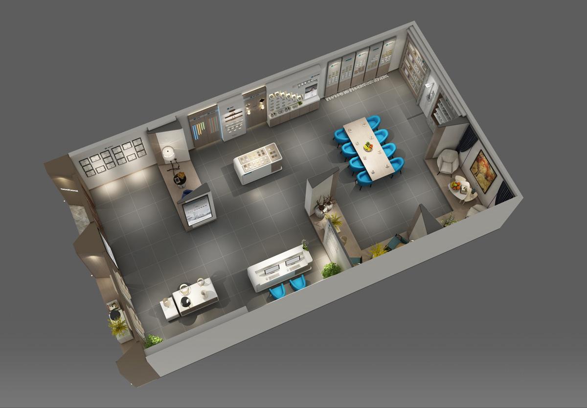视贝照明品牌设计/展厅设计/包装设计效果图5