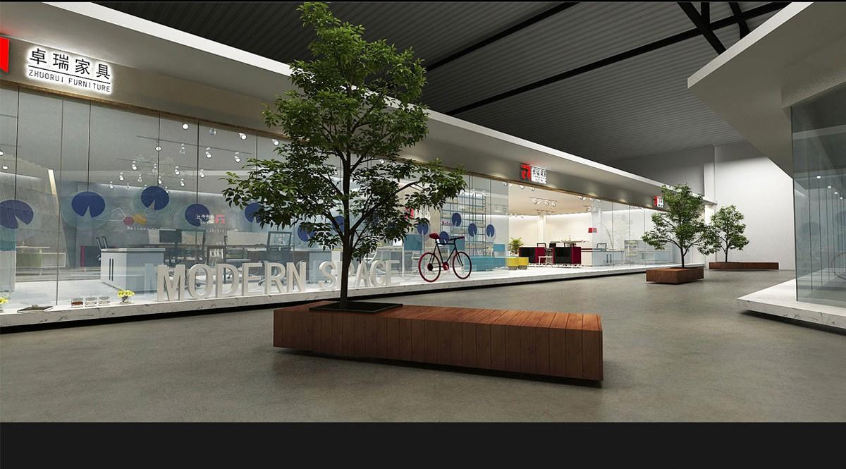 卓瑞家具展厅设计/空间设计效果图1