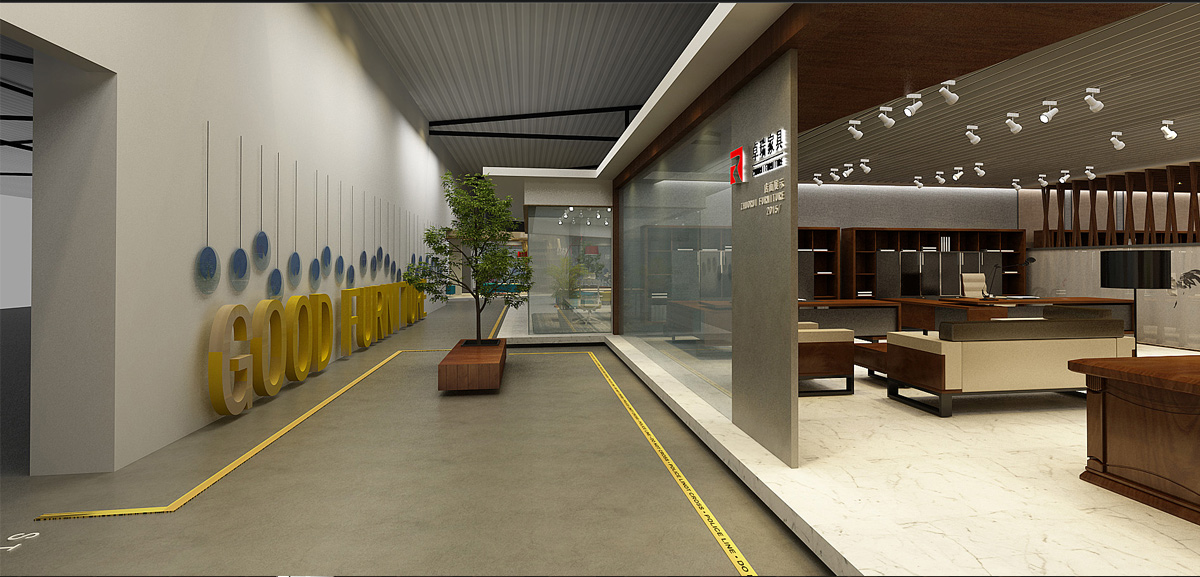 卓瑞家具展厅设计/空间设计效果图2