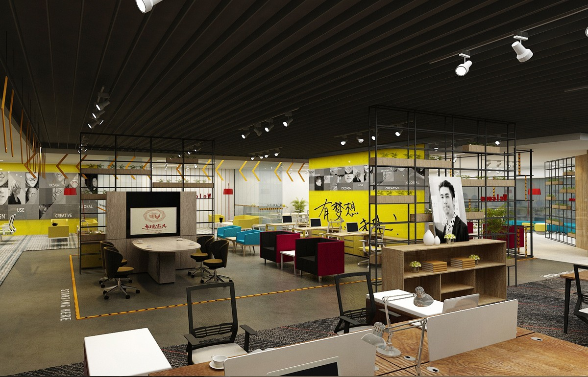 卓瑞家具展厅设计/空间设计效果图3