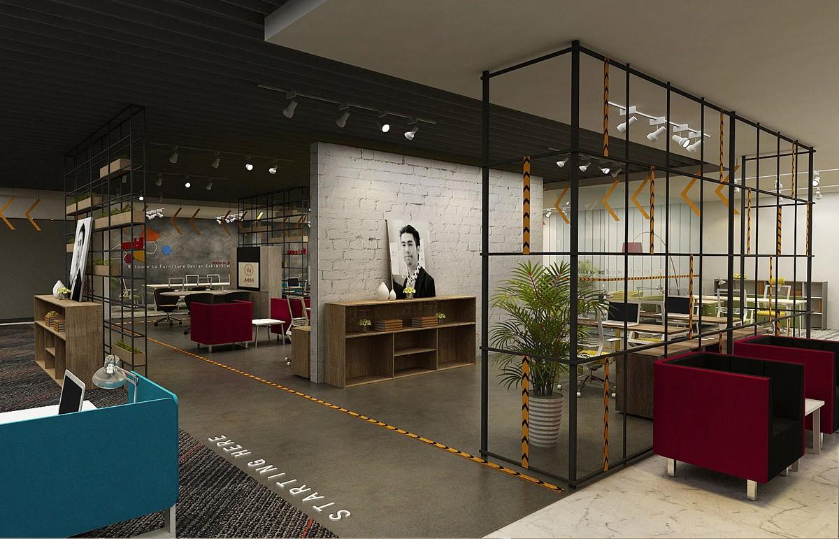 卓瑞家具展厅设计/空间设计效果图4