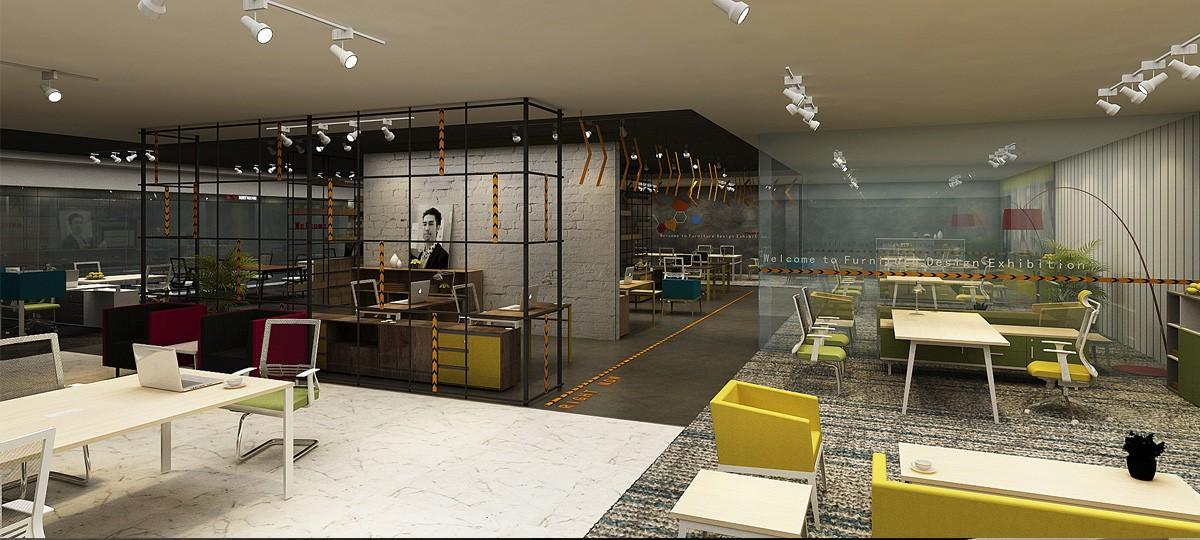卓瑞家具展厅设计/空间设计效果图5