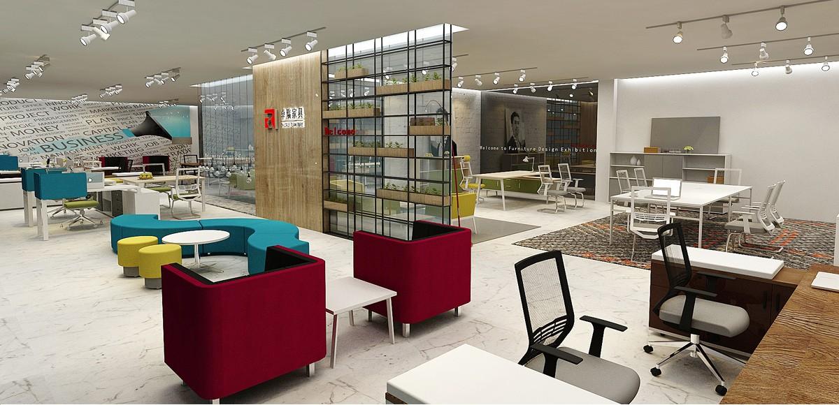 卓瑞家具展厅设计/空间设计效果图8