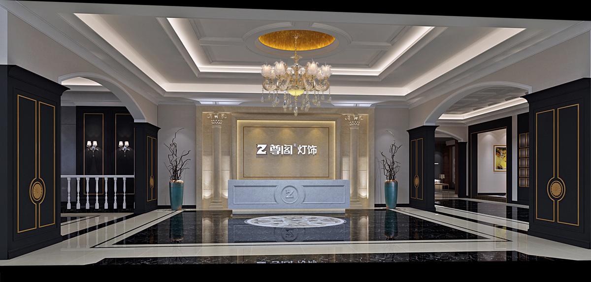 尊阁家居品牌设计/展厅设计效果图1
