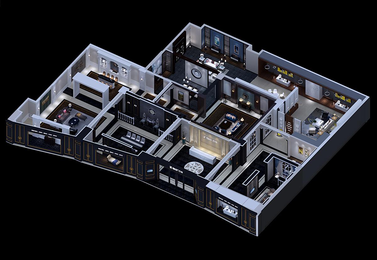 尊阁家居品牌设计/展厅设计效果图9
